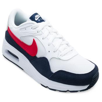 Tênis Nike Air Max SC NK21 Branco-Marinho-Vermelho
