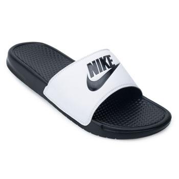 Chinelo Nike Benassi JDI Branco-Preto TAM 44 ao 48