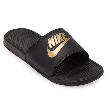 Chinelo Nike Benassi JDI Preto-Dourado