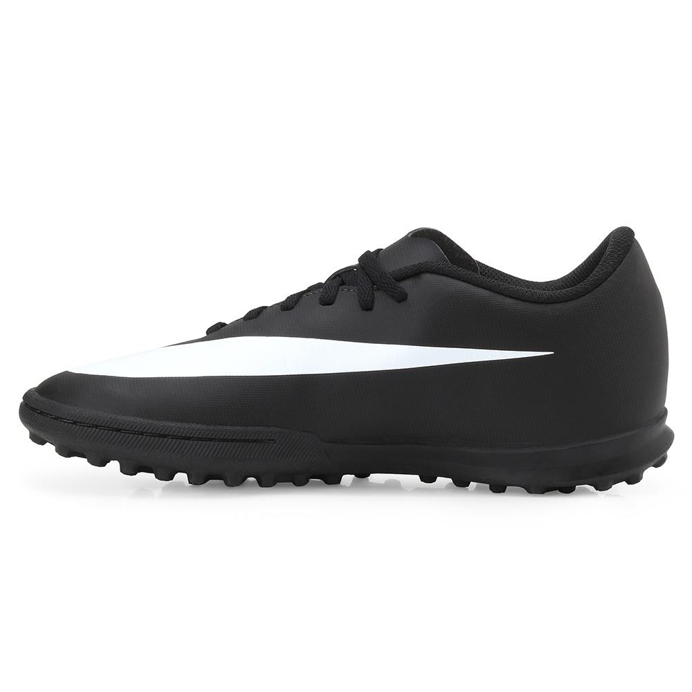 43b01919a687d Chuteira Society Nike Bravata II TF NK19 Preto-Branco | Alex Shoes