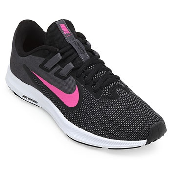 Tênis Nike WMNS Downshifter 9  NK 18 Preto-Cinza-Rosa