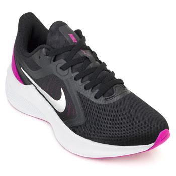 Tênis Nike Downshifter 10 NK20 Preto-Prata-Roxo
