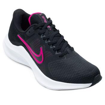 Tênis Nike Downshifter 11 NK21 Preto-Pink-Branco
