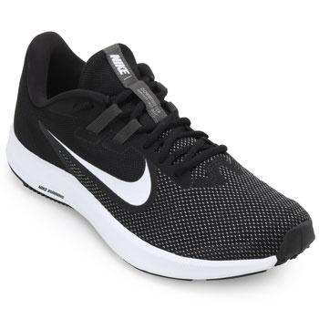 Tênis Nike Downshifter 9 NK19 Preto-Branco