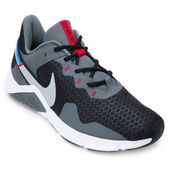 Tênis Nike Legend Essential 2 NK21 Preto-Cinza-Azul TAM 44 ao 48