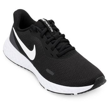 Tênis Nike Revolution 5 NK19 Preto-Branco