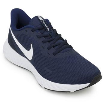 Tênis Nike Revolution 5 NK19 Marinho-Branco