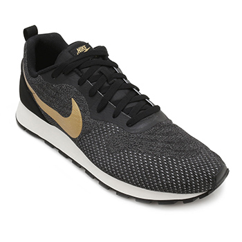 Tênis Nike MD Runner 2 ENG Preto-Ouro TAM 44 ao 48