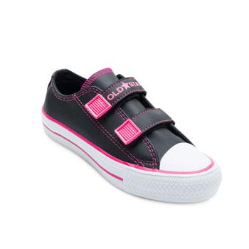Tênis Old Star Baby OS21-101 Preto-Pink-Branco