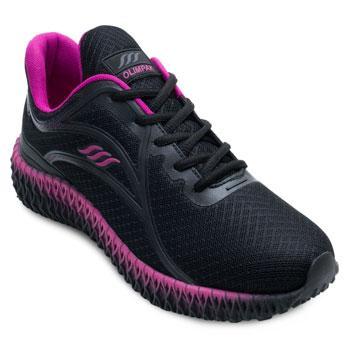 Tênis Running Olimpak OP21-0211845 Preto-Pink TAM 40 ao 44