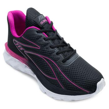 Tênis Running Olimpak OP21-0213048 Preto-Pink TAM 40 ao 44