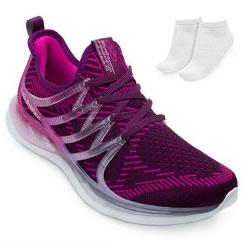 Tênis Olympikus Reação e Meia OP21 Roxo-Pink