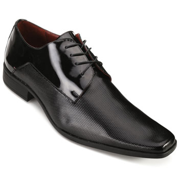 Sapato ProMais AS18-0360 Verniz Colmeia-Preto TAM 44 ao 48