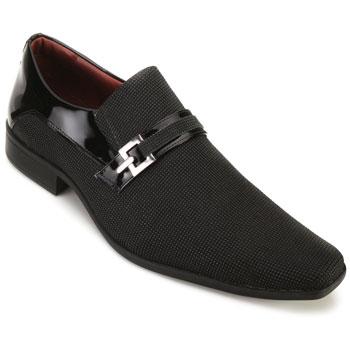 Sapato Pro Mais AS18-0563 Blob Brilhante-Verniz Preto TAM 44 ao 48