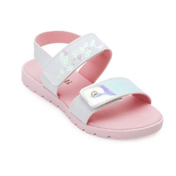 Sandália Pampili Candy Baby PP21-123138 Branco-Rosa