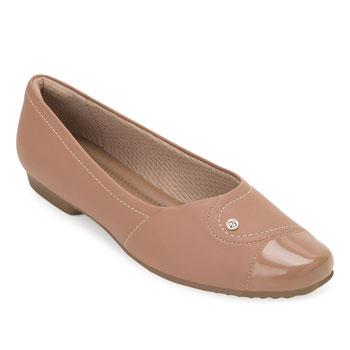 Sapato Comfort Piccadilly PD20-251076 Nude TAM 40 ao 44