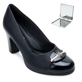 Sapato Piccadilly e Espelho PD21-131090 Preto-Verniz