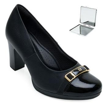 Sapato Piccadilly e Espelho PD21-131089 Preto