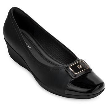 Sapato Anabela Piccadilly PD20-144064 Preto TAM 40 ao 44