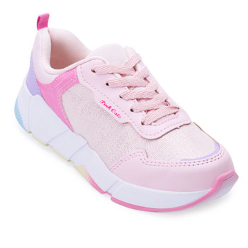 Tênis Jogging Pink Cats Juvenil PC21-V1811 Rosa-Lilás