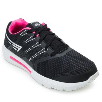 Tênis Running Point Tênis ZK21-23ZX-A Branco-Preto-Pink TAM 40 ao 44