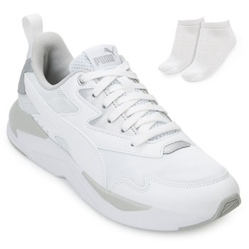 Tênis Dad Sneaker Puma X-Ray e Meia PM20-374737 Branco-Cinza