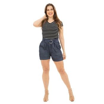 Shorts Clochard CatWalk Plus Size CW19-5477CO Azul