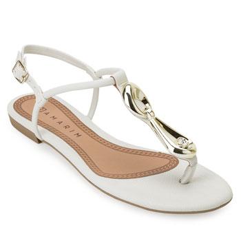 Sandália Rasteira Ramarim RM20-2024201 Branco