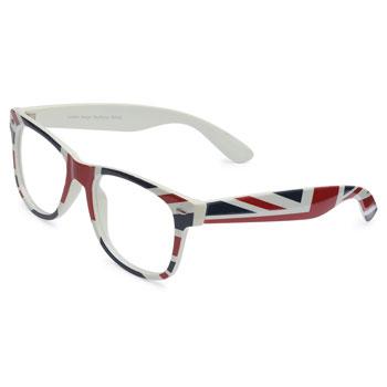 Armação de óculos Ray Flector W2162 Branco-Azul-Vermelho