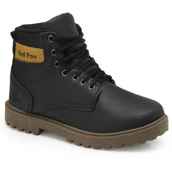 Bota Coturno Red Fox RE19-270R Preto