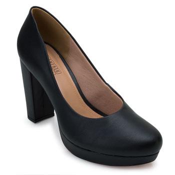 Sapato Meia Pata Sense Bella SB21-1290143 Preto TAM 40 ao 44