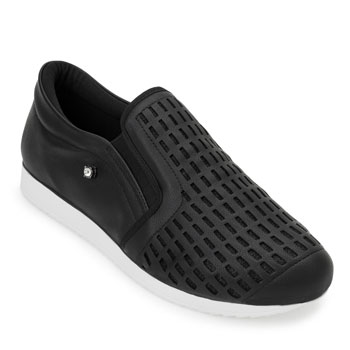 Slip On Sense Flex AN20-124733 Preto-Branco TAM 40 ao 44