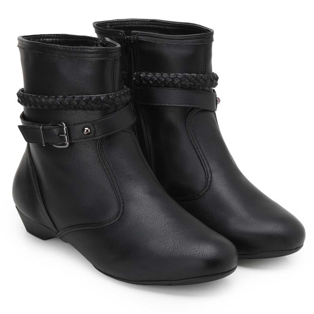 3c59e0f47 Bota Cano Baixo Sense Flex AF19-262998 Preto TAM 40 ao 44   Alex Shoes