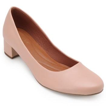 Sapato Sense Rio Salto Baixo ZA19-2001Napa Nude TAM 40 ao 44
