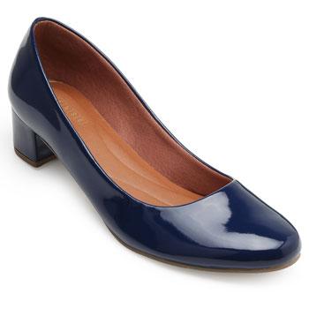 Sapato Sense Rio Salto Baixo ZA19-2001Verniz Marinho TAM 40 ao 44