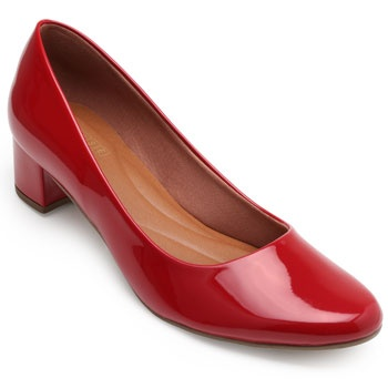 Sapato Sense Rio Salto Baixo ZA19-2001Verniz Vermelho TAM 40 ao 44