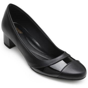 Sapato Sense Rio Salto Baixo ZA19-2003 Preto TAM 40 ao 44