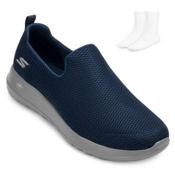 Tênis Iate Skechers Go Walk Max e Meia SK20-54600 Marinho-Cinza