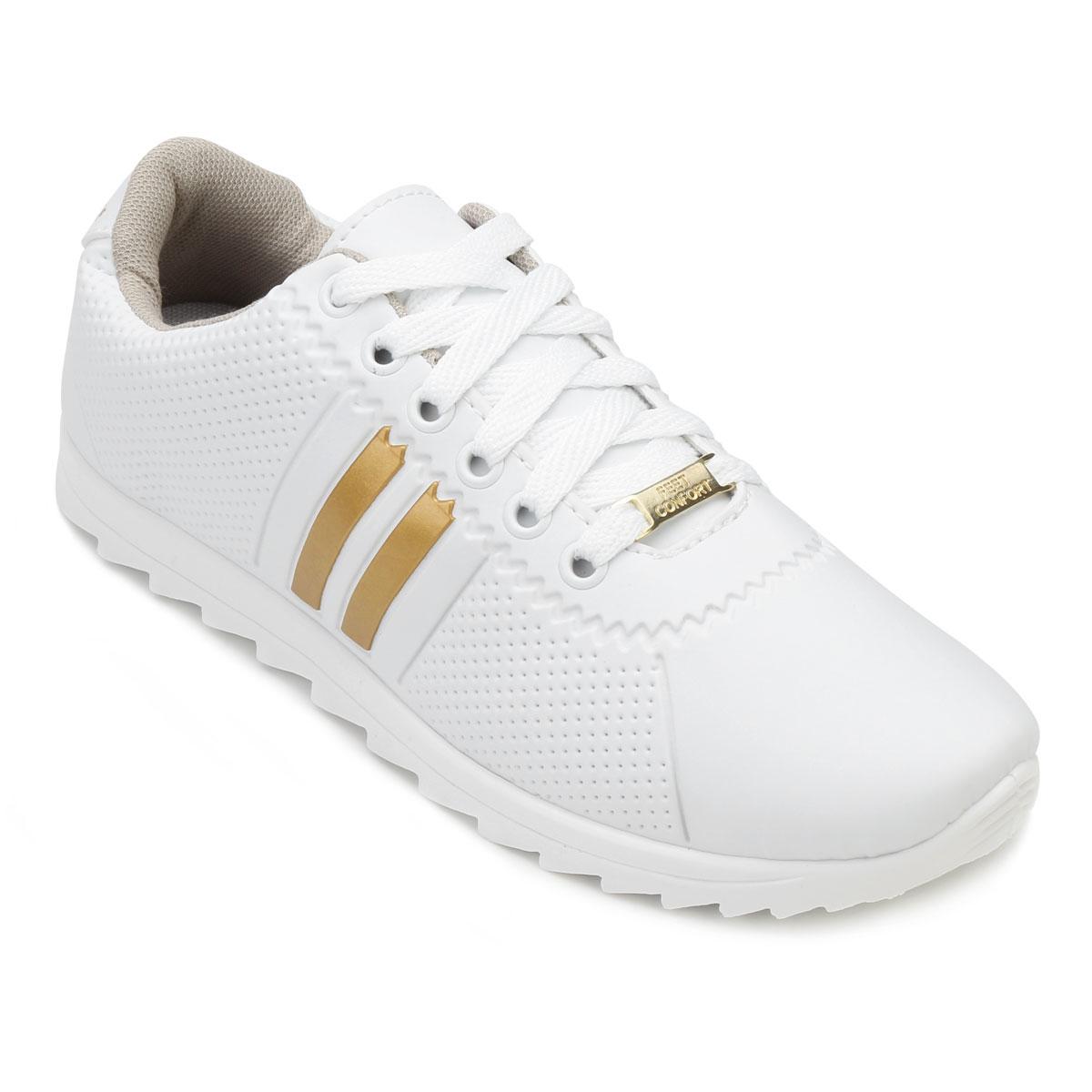 a2bf617bc7 Tênis Star Feet Tratorado SF18-SF001 Branco-Dourado