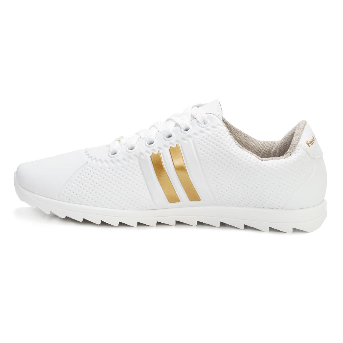 c0c7573918 ... Tênis Star Feet Tratorado SF18-SF001 Branco-Dourado ...