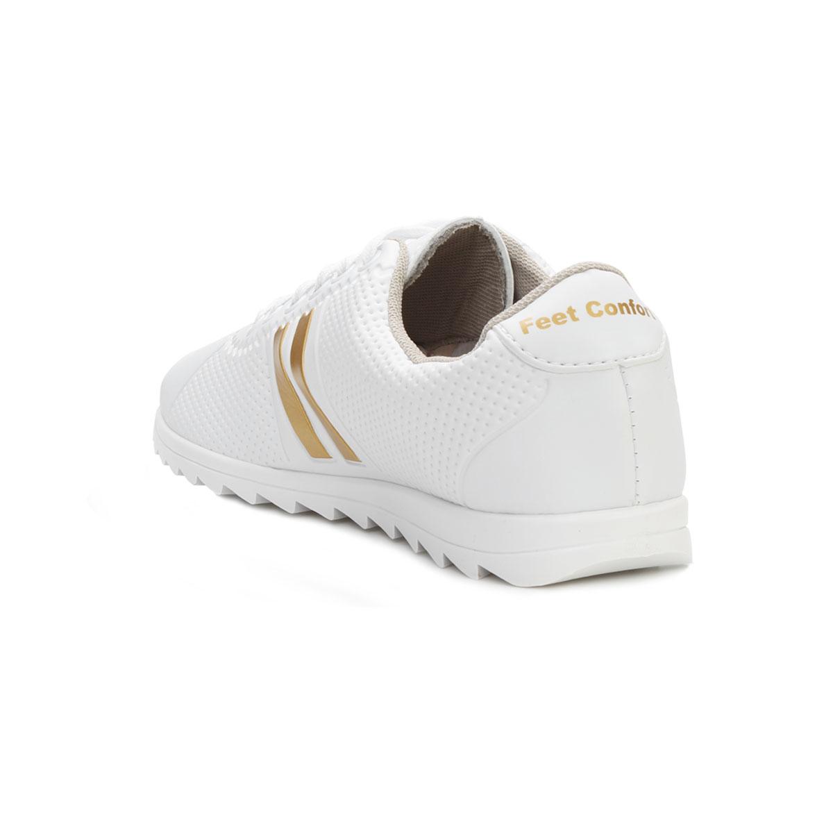 d2e990d88b ... Tênis Star Feet Tratorado SF18-SF001 Branco-Dourado