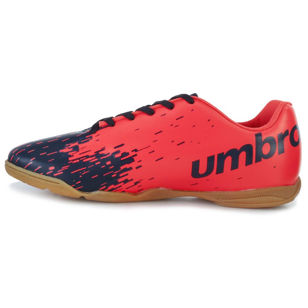 f5748367099fa Chuteira Futsal Umbro Acid UB18 Marinho-Coral   Fit Tênis