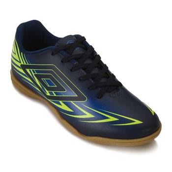 Chuteira Futsal Umbro Speed III UB18 Marinho-Azul-Limão