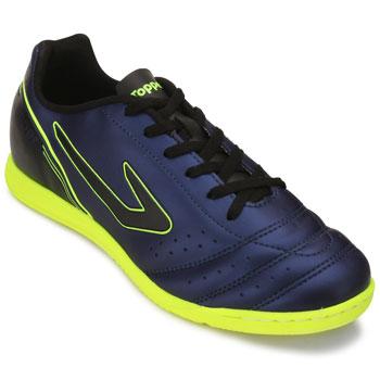 Tênis Futsal Topper Drible Marinho-Preto-Amarelo