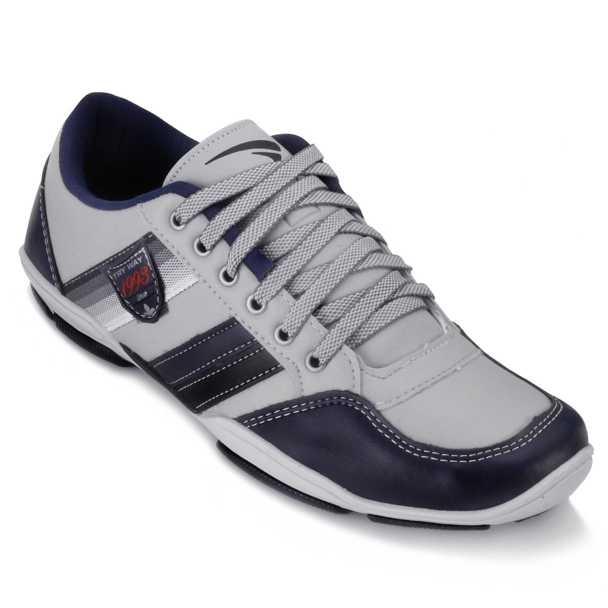 5db53c50d Sapatênis Try Way Masculino BK726 Gelo-Marinho TAM 44 ao 48 | Alex Shoes