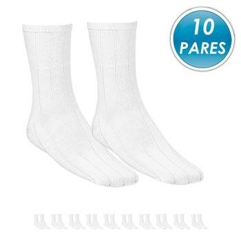 Kit 10 Pares Meia Social Top Fill Algodão TF19 Branco
