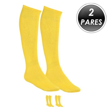 Kit 2 Pares Meião Esportivo Top Fill TF19 Amarelo