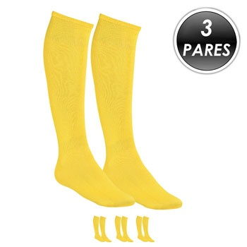 Kit 3 Pares Meião Esportivo Top Fill TF19 Amarelo