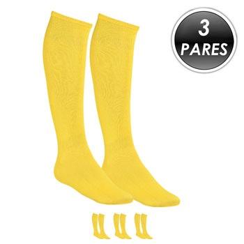Kit 3 Pares Meião Esportivo Top Fill TF19 Amarelo