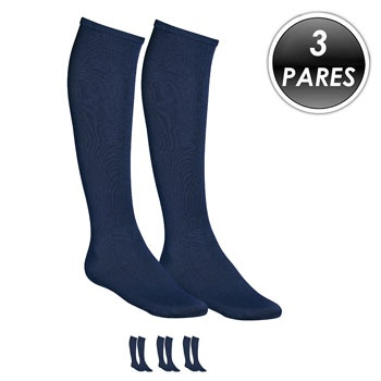 Kit 3 Pares Meião Esportivo Top Fill TF19 Azul